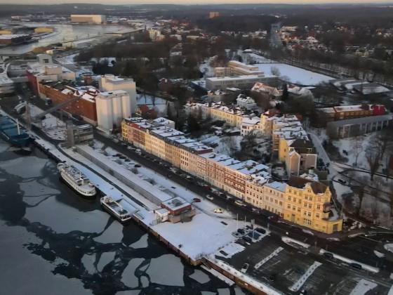Lübeck Trave, Stadtgraben und die Altstadtinsel.