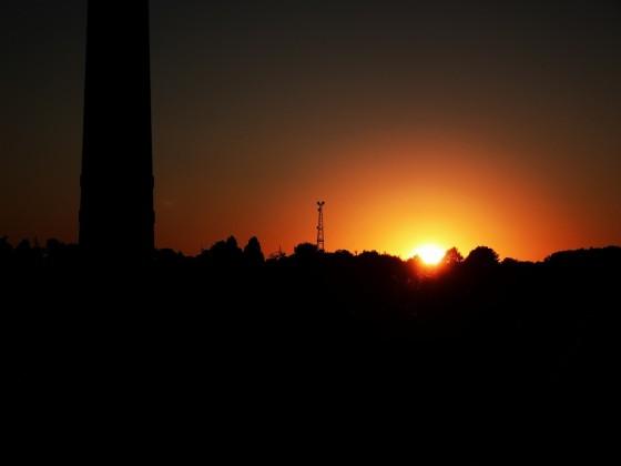 Sonnenuntergang am Conti-Gelände in Hannover
