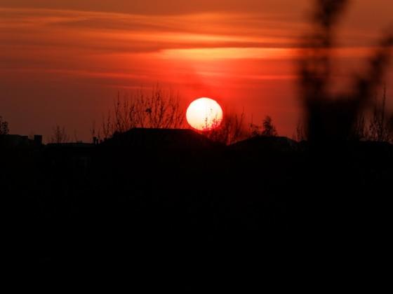 Untergehende Sonne in Stockelsdorf